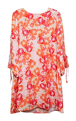 TYLER BOE Hailey Silk Rose Print Dress Rose Print Silk Dress