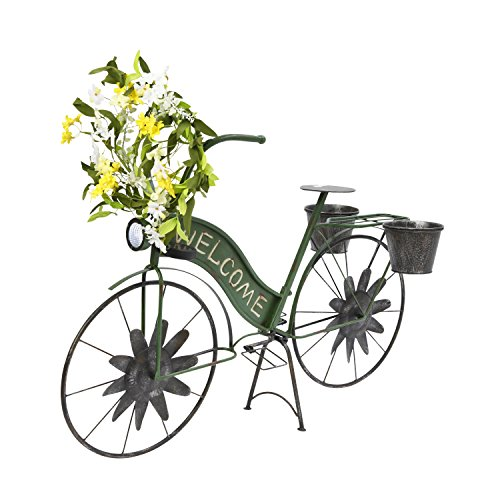 Bicycle Garden (The Gerson Company Planter Solar Lighted Metal Bicycle)