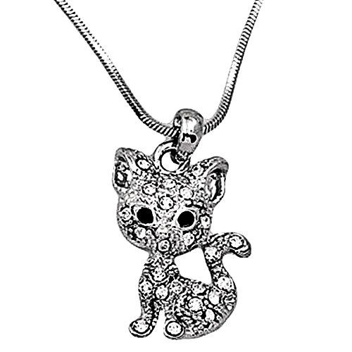 DianaL Boutique Adorable Kitty Cat Pendant Necklace 19