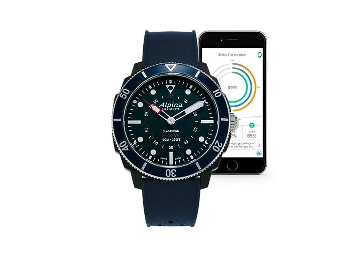 Alpina Watch AL-282LNN4V6 Azul Reloj Inteligente: Amazon.es ...