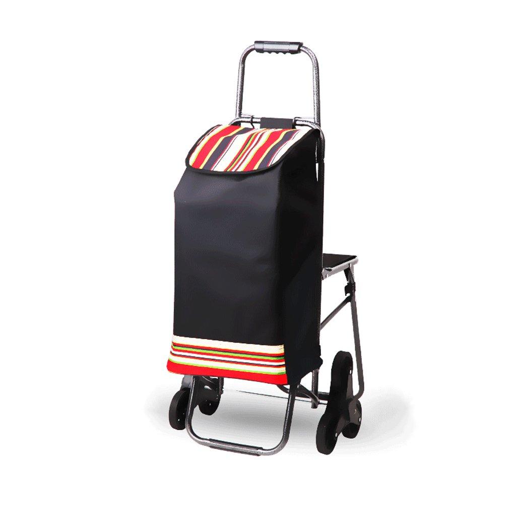折り畳み式ショッピングカート3輪、折りたたみ式、スライディングカート、軽量ショッピングトロリー、クライミングカート、ショッピングトロリー、L57 * W44 * H94cm、耐荷重30kg ( Color : Red ) B07C5PMX6V Red Red