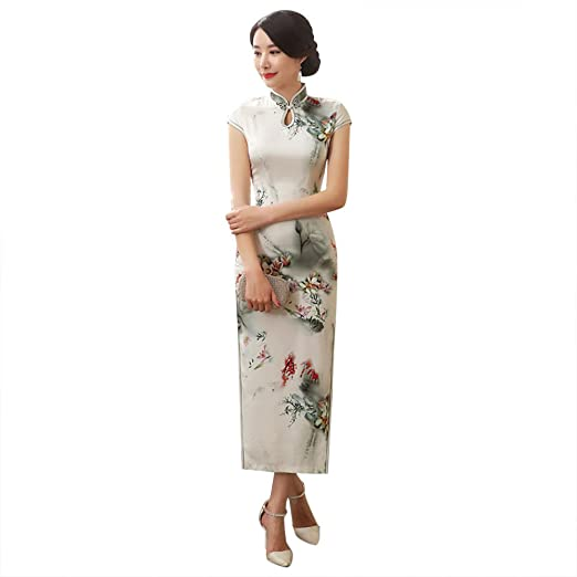 f3115f2be6 ZooBoo Chinese Cheongsam Qipao Dress - Oriental Traditional Wedding Outfit  Clothing Costume for Girls Women -