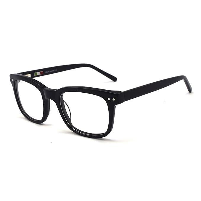 eec56b19d23 Amazon.com  Retro square shape prescription available Eyeglasses ...