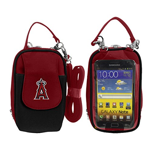 Charm14 MLB Los Angeles Angels Crossbody Cell Phone Purse XL -Fits All Phones