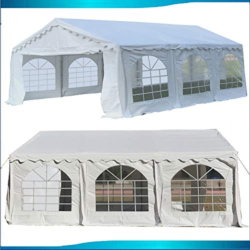 DELTA Canopies Budget PVC Party Tent Canopy Shelter 20'x20' - White (Pole Pvc Tent)