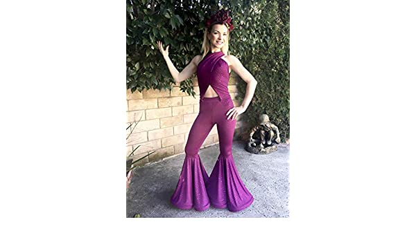 Amazoncom Selena Purple Costume Jumpsuit Party 70s Costume Handmade