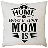 2019,EOWEO Happy Mother's Day Sofa Bed Home Decoration Festival Pillow Case Cushion Cover(43cm×43cm,A)