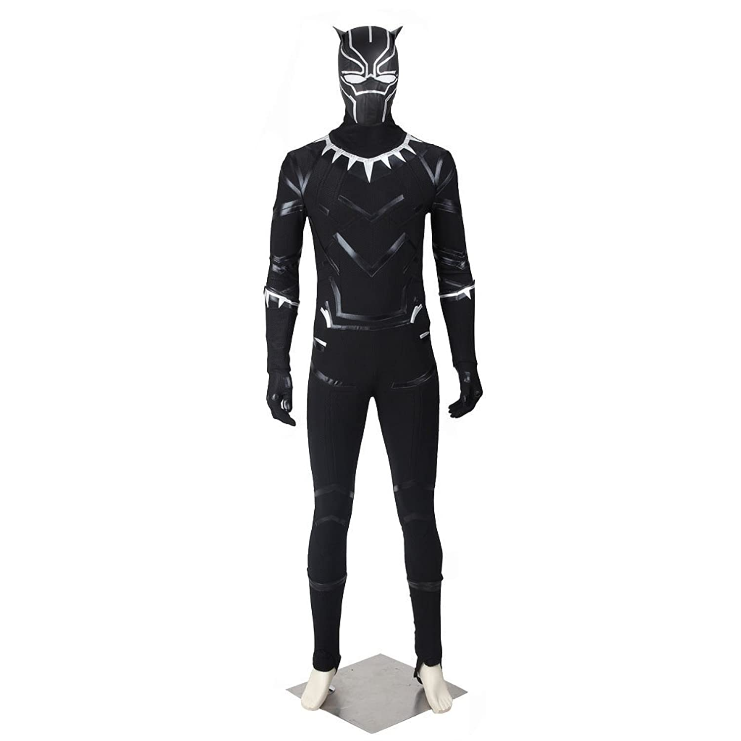 CosplayDiy Men's Suit for Captain America 3 Civil War Black Panther Cosplay