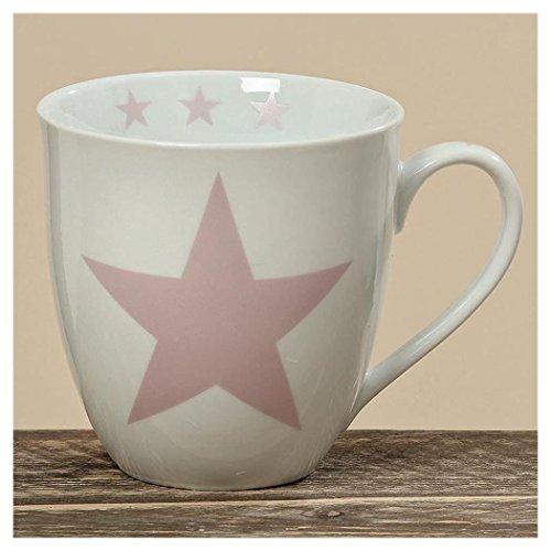 Jumbobecher STAR pink aus Porzellan