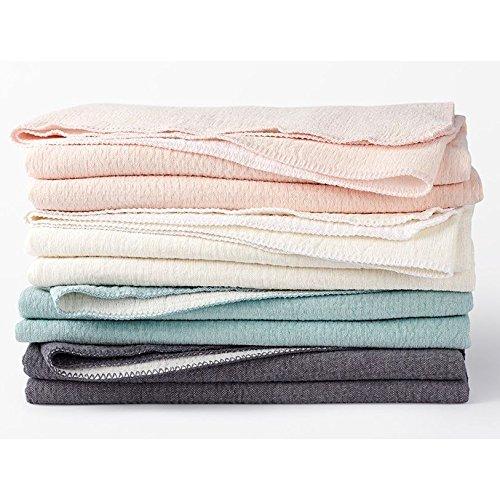 Coyuchi Cozy Cotton Organic Baby Blanket - Sea Spray