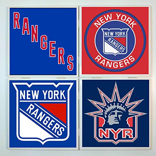 New York Coasters - set of 4 tile coasters - hockey