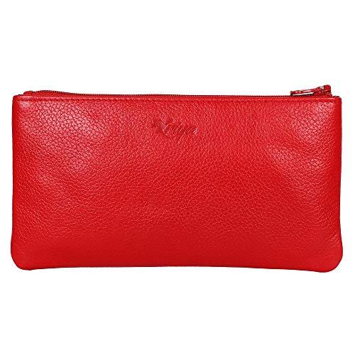 Women's Wristlet Clutch Handbag Genuine Leather Envelope Evening Bags