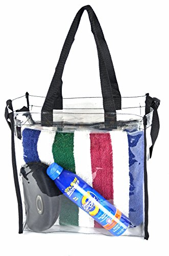 Clear Tote Stadium NFL Approved Bag 12 x 12 x 6 With Zipper Import It All