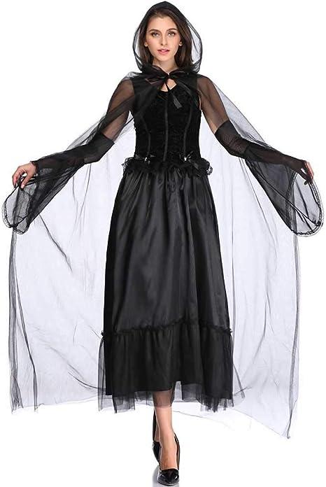 GLXQIJ Disfraz De Túnica con Capucha De Halloween para Mujer ...