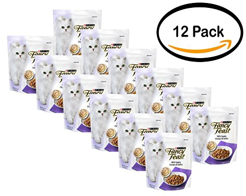 PACK OF 12 - Purina Fancy Feast Gourmet Dry Cat Food With Savory Chicken & Turkey 1 lb. Bag by Purina Fancy Feast