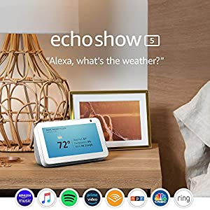 Best Epic Trends 51BGrlF0S5L._SS300_ Echo Show 5 (1st Gen, 2019 release) -- Smart display with Alexa – stay connected with video calling - Sandstone