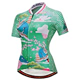 Cycobyco Women's Cycling Jersey Short Sleeve Reflective,Light,Breathable and Quick Drying(Cy648,Small)