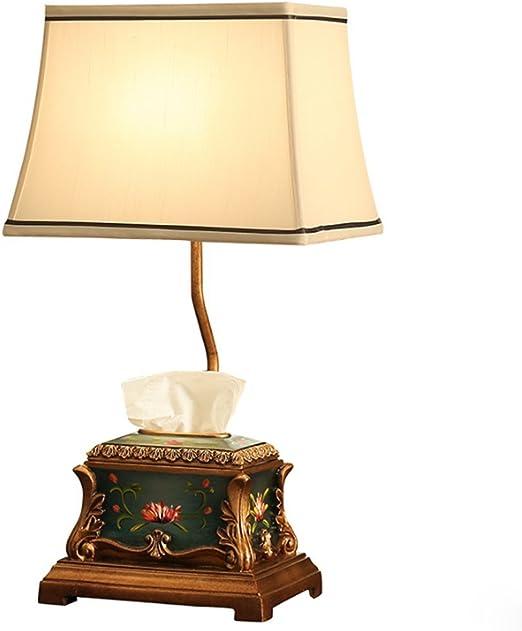 GBY Lámpara de Mesa Lámpara de Noche clásica Pintada a Mano del ...