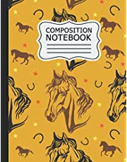 horse Composition Notebook: horse Wide Ruled Notebook Paper for Kids / Large Writing Journal for Homework - Notes - Doodles ... Back to School for Boys Girls Children .