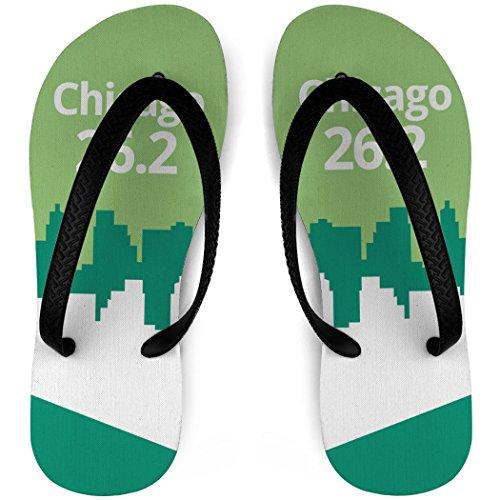 Løpende Flip Flops 26,2 Chicago Grønn