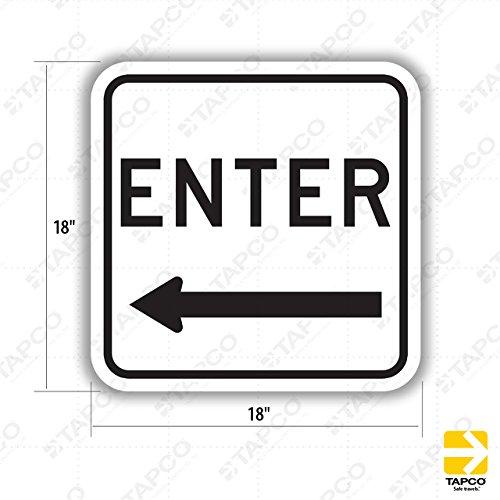 Tapco D-11L Engineer Grade Prismatic Square Lane Control Sign, Legend