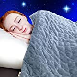 Dr. Hart's Weighted Blanket to Improve Sleep & for Anxiety Relief   Heavy Gravity Blanket   Natural Calming Sleep Aid & Stress Relief   Patented Design   Luxurious Cover Included   15 lbs   60x80