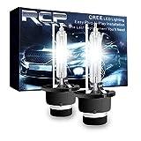 RCP - D4S6 - (A Pair) D4S/ D4R 6000K Xenon HID Replacement Bulb Diamond White Metal Stents Base 12V Car Headlight Lamps Head Lights 35W