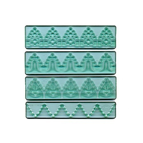 FMM Textured Lace Set 3, Includes 3 lace designs plus 1 cutter