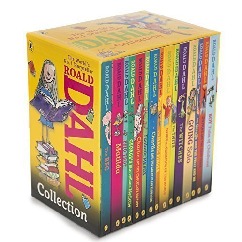 Roald Dahl Collection - 15 Paperback Book Boxed Set (Willy Wonka And The Chocolate Factory Author)
