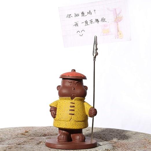 ZSPXIN Escultura Humana China teléfono móvil Porta Tarjetero-C ...