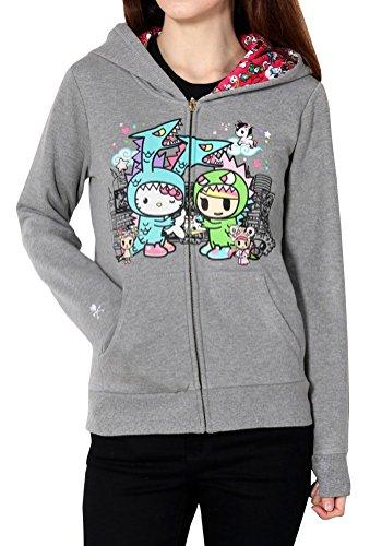 Tokidoki x Hello Kitty Womens' Monster Buds Hoodie Jacket (Small) by Tokidoki