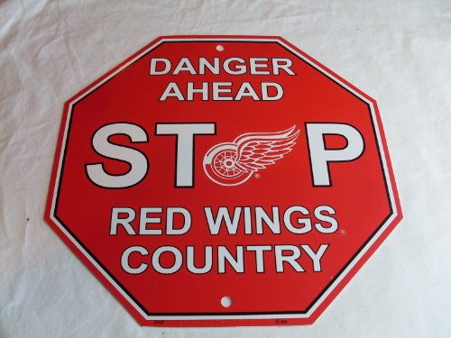 Fremont Die NHL Detroit Red Wings Stop Sign, 12