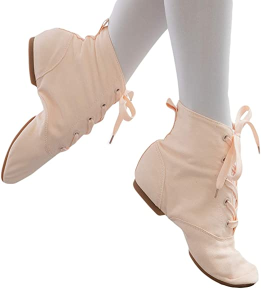 MNSSRN-MM Mid-Tube Lace-Up Dance Boots