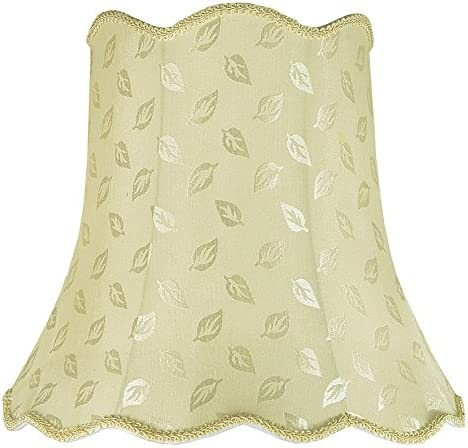 Aspen Creative 34003 Transitional Scallop Bell Shape Spider Construction Lamp Shade in Butter Creme, 16 wide 10 x 16 x 15