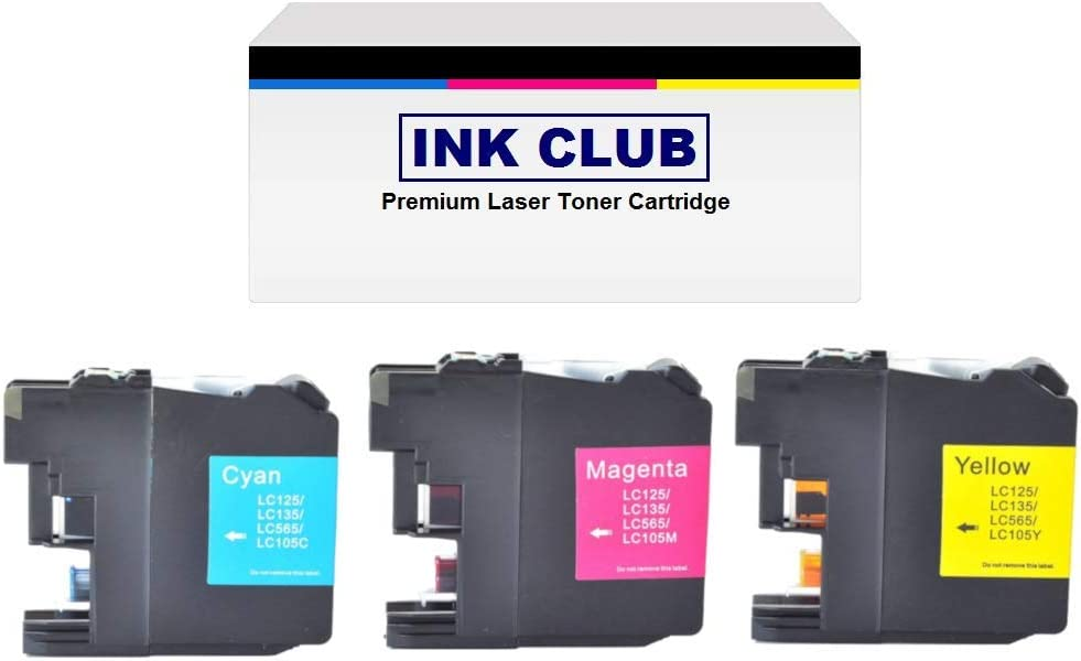 XXL B//C//M//Y, 6B,3C,3M,3Y Super High Yield Ink Cartridge Set J4710DW Replacement Use for Brother MFC-J4410DW J4610DW J4310DW Printers InkClub LC107BK LC105C LC105M LC105Y J4510DW