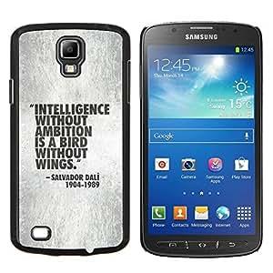 TECHCASE---Cubierta de la caja de protección para la piel dura ** Samsung Galaxy S4 Active i9295 ** --presupuesto de inteligencia de trabajo de motivación