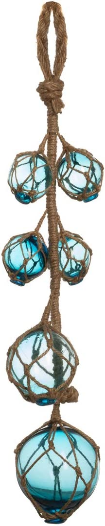 "Glass Fishing Floats | Aqua Japanese Glass Floats Strand 2""-4"" 