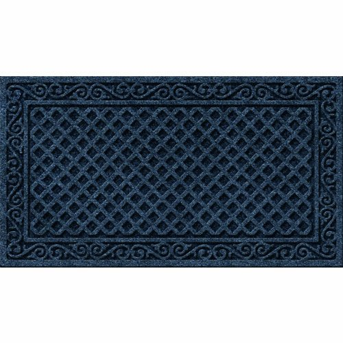 Mat Door Love (Textures Iron Lattice Entrance Mat, 20-Inch by 36-Inch, Smoke)