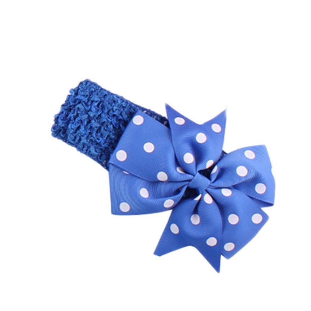 Stirnband erthome Baby Stirnb/änder M/ädchen Stirnband Flower Head Wear Wave Bandeau