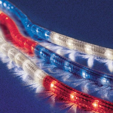 Celebrations rope lights 18 red white and blue amazon celebrations rope lights 18 red white and blue aloadofball Gallery