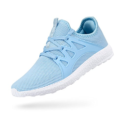 Troadlop Womens Fashion Sneakers Ultra Lightweight Knitted Running Shoes Athletic Casual Walking, Fairy Blue-5.5 US