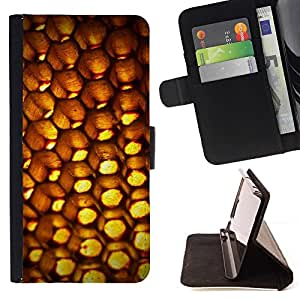 BETTY - FOR Samsung Galaxy S4 IV I9500 - Abstract Patten Honeycomb - Style PU Leather Case Wallet Flip Stand Flap Closure Cover