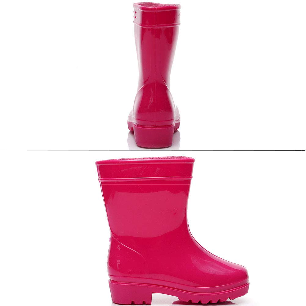 Yudesun Children Rain Boots Boys Girls Water Resistant Wellingtons Rubber Outdoor Non-Slip Shoes