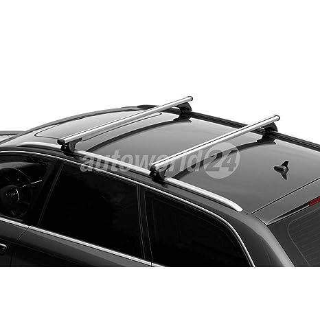 F48 Alu Dachträger Tiger silber BMW X1 ab 2015 für aufliegende Dachreling