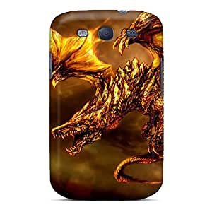 Galaxy S3 Case Cover Gold Skin Dragon Case - Eco-friendly Packaging
