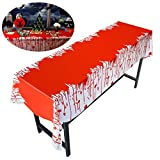 PBPBOX Halloween Blood Table Cover for Halloween Zombie Party Decorations 54 X 108 Inch Halloween Tablecloth