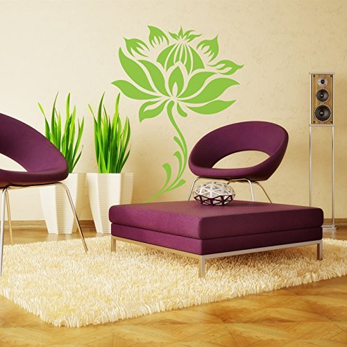 Vinyl Lotus Flower Wall Decal Lotus Blossom Wall Sticker Beautiful Flower Wall Decor Wall
