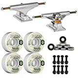 Independent Silver 139mm Truck 8.0' Package Skateboard Bones 100's Wheels 53mm mm Abec 7 Bearings