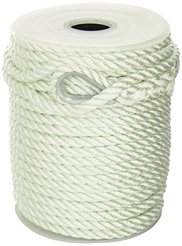Unicord 300525 White 3/8 x 150' Nylon Twist Anchor - Unicord Line Anchor