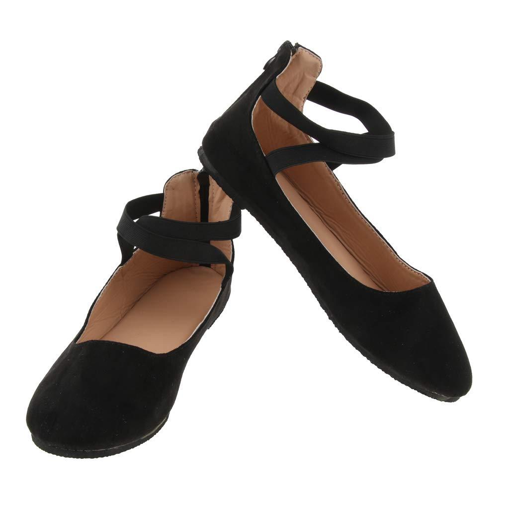 Baoblaze Scarpe Classiche Mary Jane Ballerine Di Moda Femminile Con Cinturino Alla Caviglia Per Ballerini